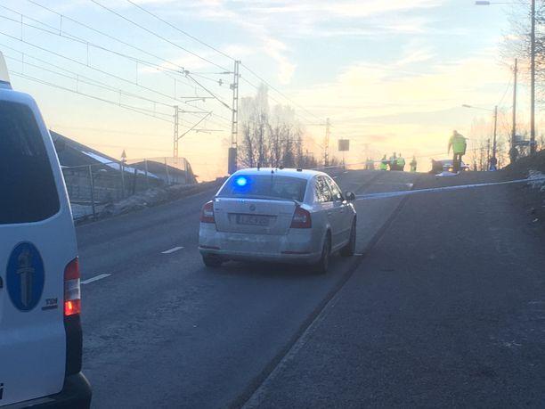 Espoon Kauklahdessa oli perjantai-iltapäivällä poliisioperaatio.