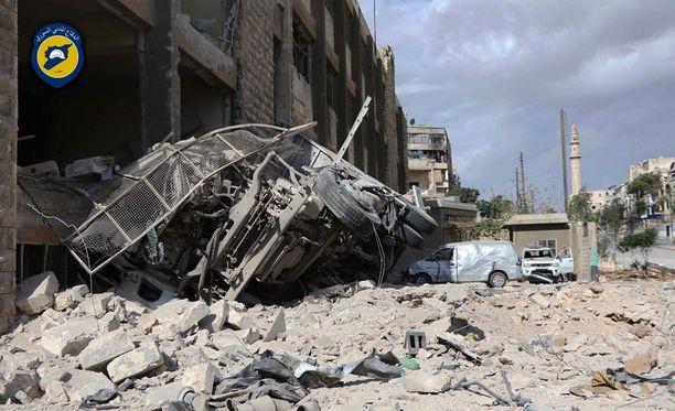 Aleppo on ollut rankkojen pommitusten kohteena.