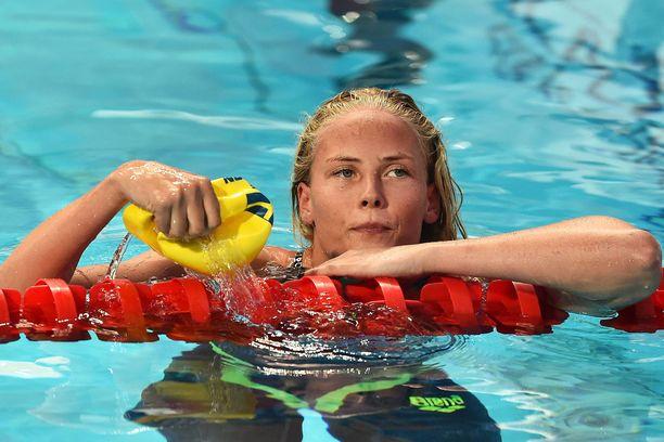 Michelle Colemanin mukaan Hangzhoun uintikeskuksessa on vaikeaa uida selkää.
