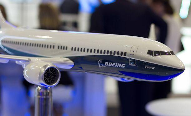 Boeing 737 Max 8-konetta esiteltiin Berliinin ilmailumessuilla vuonna 2016.
