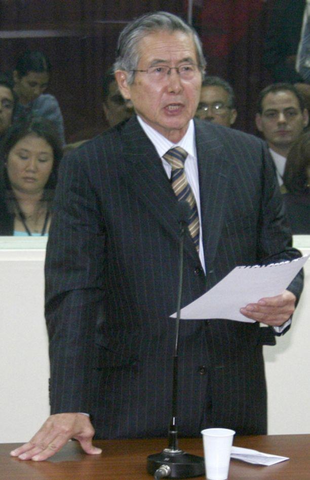 Vankilaan tuomittu Fujimori hallitsi Perua vuosina 1990-2000.