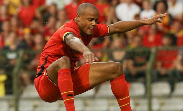 Vincent Kompany on Belgian Punaisten paholaisten johtohahmo Brasiliassa.