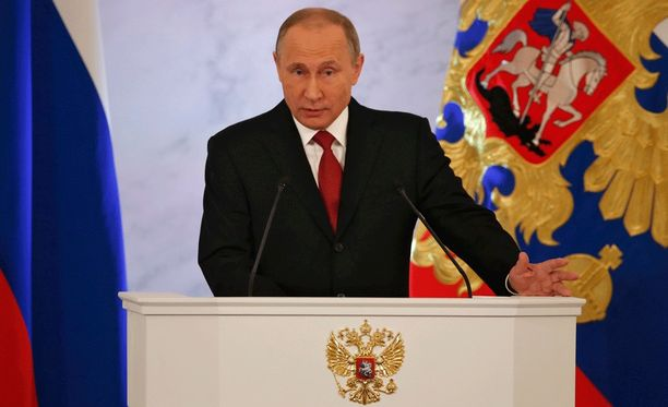 Vladimir Putin piti vuotuisen linjapuheensa tänä vuonna jo 13. kertaa.