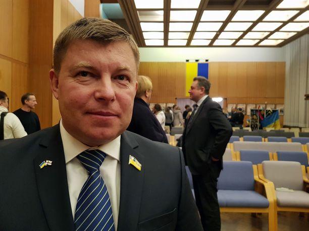 Julii Mamchur on nykyisin Ukrainan parlamentin jäsen. Hän vieraili Suomessa helmikuussa.