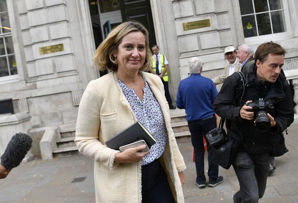 Amber Rudd erosi protestina Boris Johnsonin viimeaikaiselle toiminnalle.