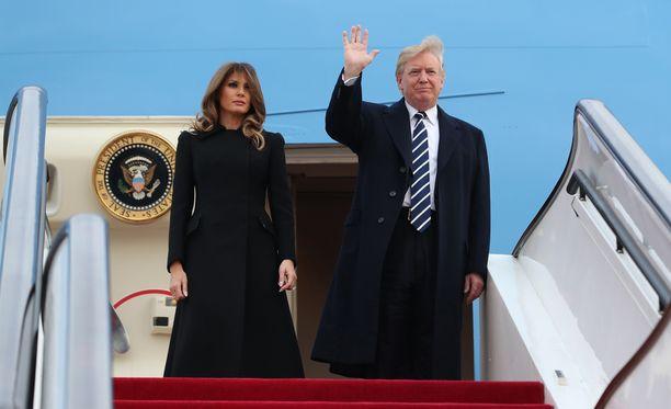 Presidentti Donald Trump vaimoineen saapui keskiviikkona Kiinaan.