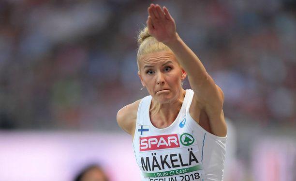 Kristiina Mäkelä loikki Ruotsi-maaottelussa 13,81.