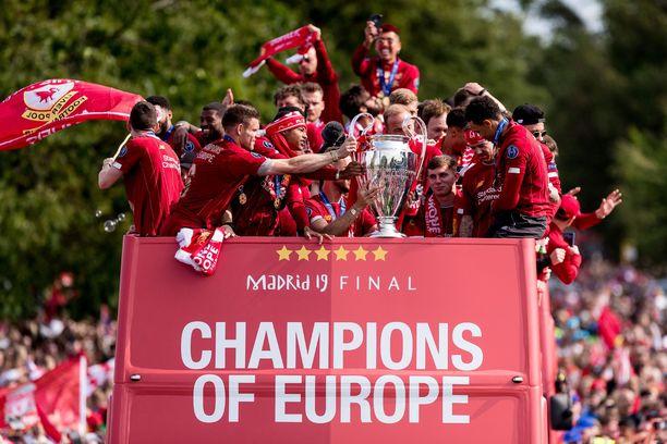 Sunnuntaina Liverpoolin pelaajat saivat ikimuistoisen vastaanoton.