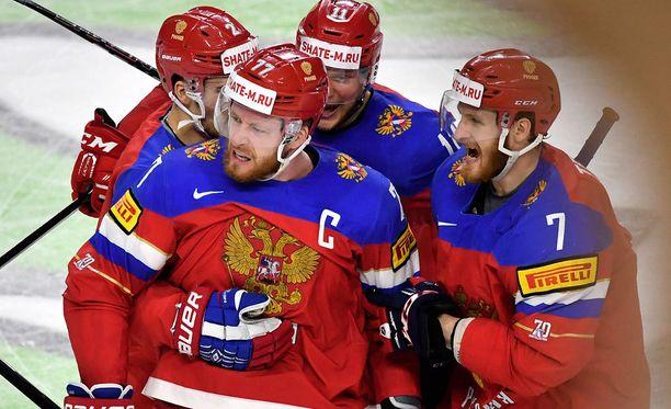 Anton Belov pelasi C-kirjain rinnassaan viime kevään MM-turnauksessa. Tällä tietoa miestä ei nähdä Pyeongchangin olympiaturnauksessa.