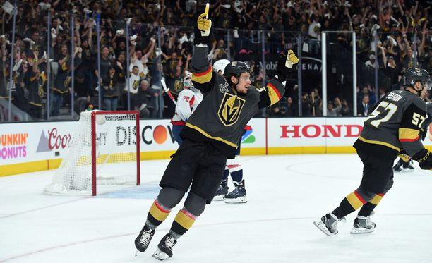 Erik Haula sai tuuletettavaa pettymykseen päättyneiden Stanley Cup -finaalien jälkeen.