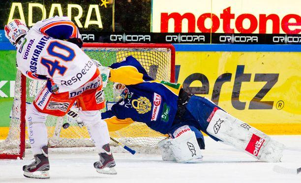 Jarno Koskirannan ajassa 25.36 viimeistelemä alivoimaosuma jäi ottelun voittomaaliksi.