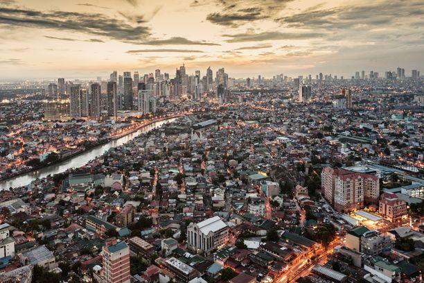 Filippiinien pääkaupunki Manila.