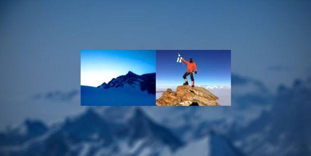 Retkikunnan välittämä kuva vuorelta.