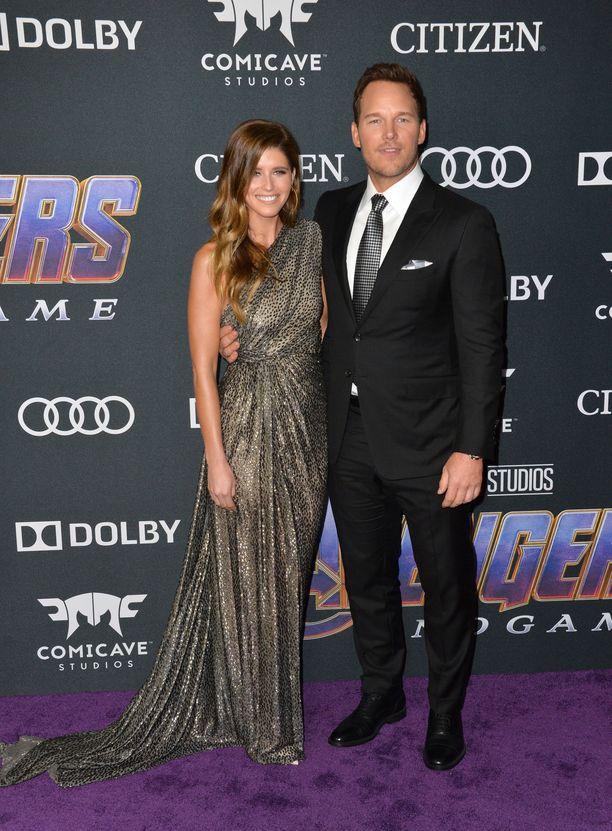 Katherine Schwarzenegger ja Chris Pratt kuvattiin tuoreimman Avengers-elokuvan ensi-illassa.