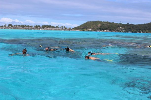 Bora Bora on hyvä sukellus- ja vesiurheilukohde.