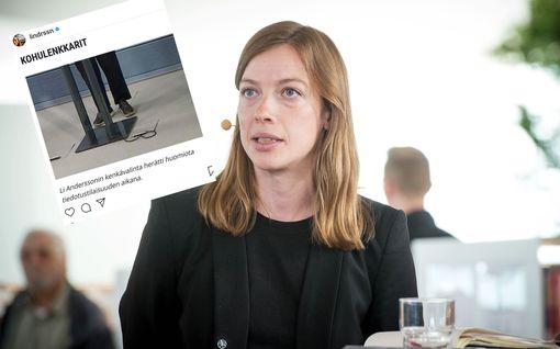 """Seiska uutisoi Li Anderssonin likaisista lenkkareista – ministeri provosoitui: """"Kaiken tämän kriisin keskellä..."""""""