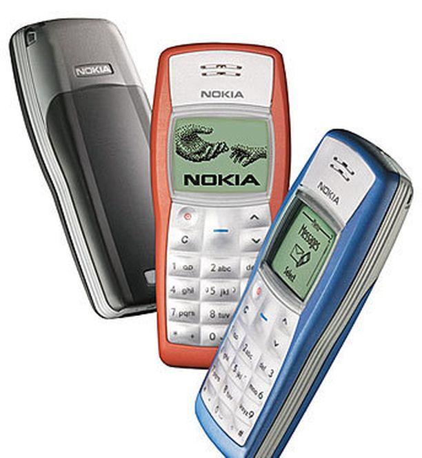 Hieman yllättäen Nokia 1100 on kaikkien aikojen myydyin puhelin.