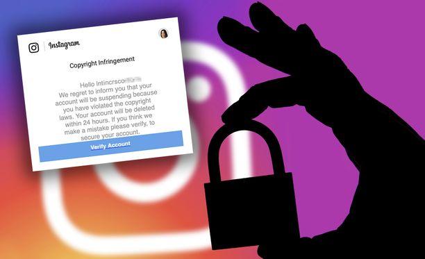 Viestissä käyttäjän väitetään rikkoneen tekijänoikeuksia.
