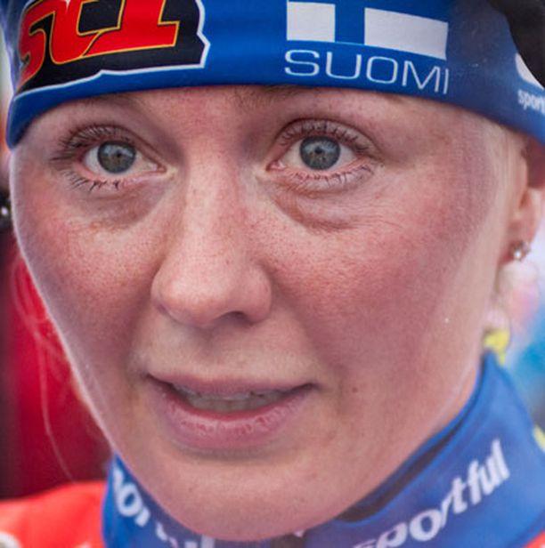 Virpi Kuitusen ensimmäinen maailmancupin kilpailu Tour de Skin keskeyttämisen jälkeen toi kuudennen sijan.