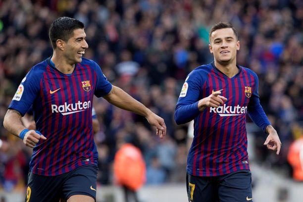 Hattutempun takonut Luis Suarez ja Philippe Coutinho kurittivat Realia.