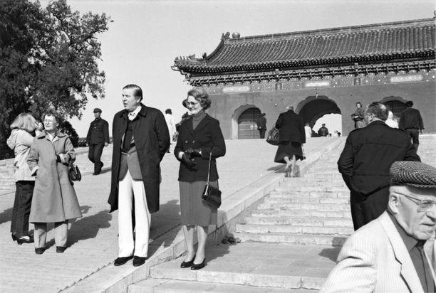 Johannes ja Kyllikki Virolainen yhdessä Kiinan-matkalla.