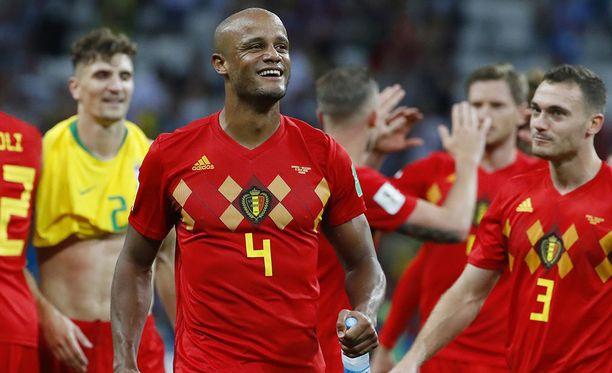 Vincent Kompany osaa odottaa onnitteluja Suomesta, jos Belgia voittaa maailmanmestaruuden.