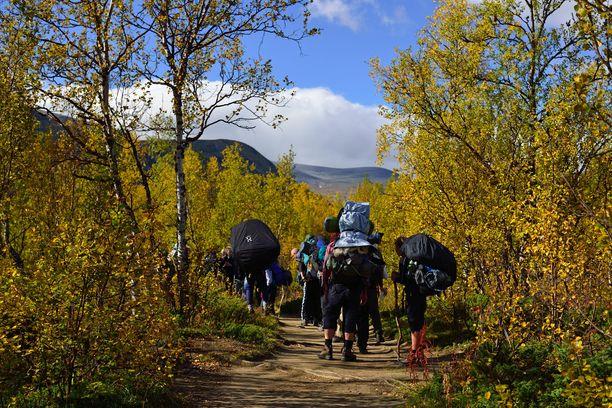 Noin kaksi kilometriä korkea Kebnekaise on suosittu vaelluskohde lähellä Ruotsin ja Norjan välistä rajaa.