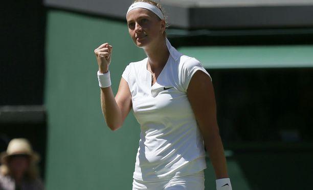 Petra Kvitovan ei tarvinnut pääsarjan ensimmäisellä kierroksella kauan urakoida.