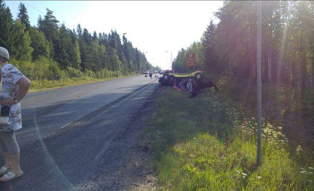 Onnettomuuspaikka sijaitsee Valtatie 9:llä, Orivedeltä toista kilometriä Tampereen suuntaan.