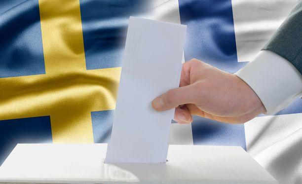Vuonna 2014 äänestysprosentti oli Suomessa vain 39,10 prosenttia, kun ruotsalaisista yli puolet kävi äänestämässä (51,07 %).  Kuvituskuva.
