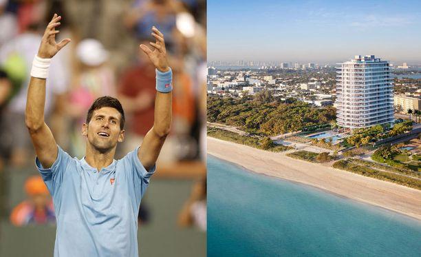 """Novak Djokovic hankki Miami Beachilta melkoisen """"piilopirtin""""."""
