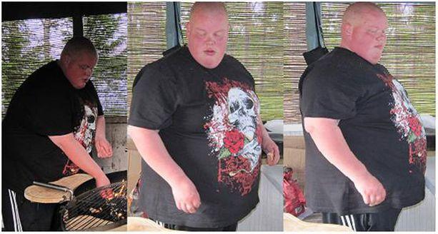 Janne kärsi ylipainosta, mutta päätti ottaa elämässään uuden suunnan. Kuva on vuodelta 2011.