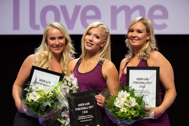 Tänä vuonna kilpailussa ei arvosteltu ulkonäköä, vaan taitoja. Turusen (kesk.) jälkeen toiseksi sijoittui Anni Vallius (oik.) ja kolmanneksi Elina Leskinen (vas.).