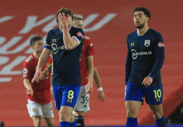 Southampton kärsi edellisessä ottelussaan 0–9-tappion.