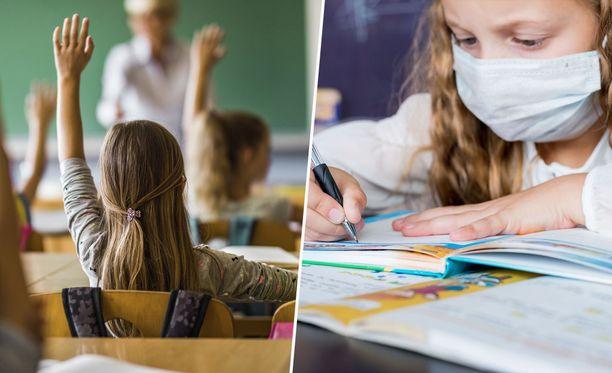 Maskiohjeistukset kouluissa vaihtelevat Suomessa ja maailmalla. Kuvituskuva.