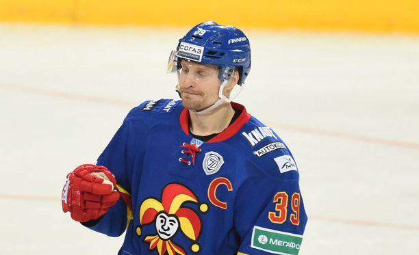 Niko Kapanen loukkaantui edellisessä Minsk-ottelussa.