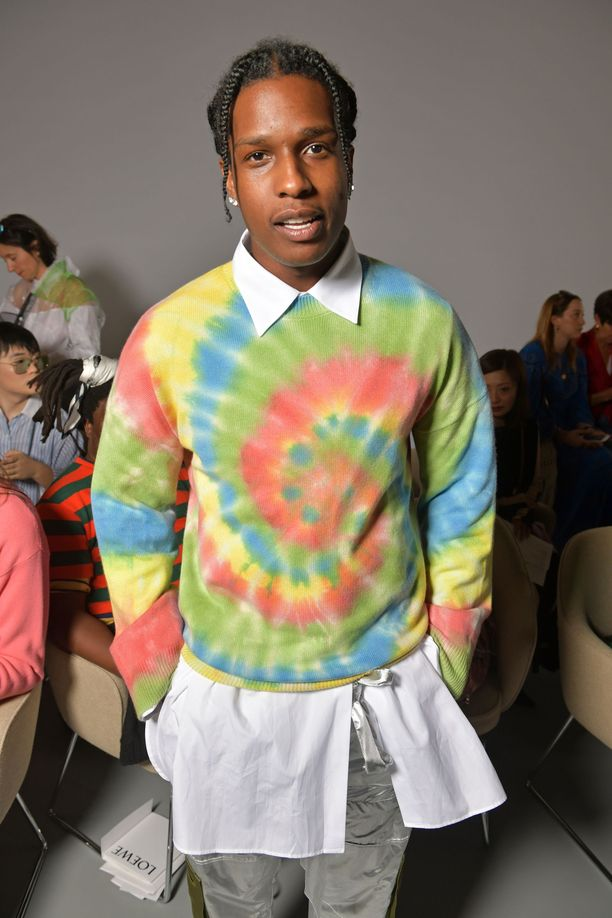 ASAP Rocky in the front row
