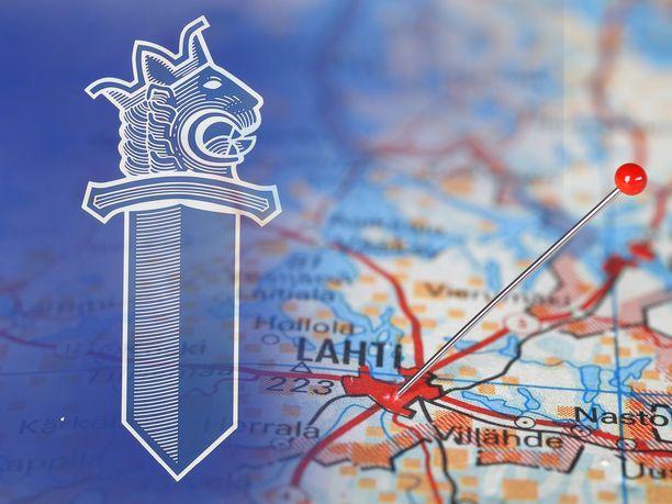 Lahti Suomen kartalla.