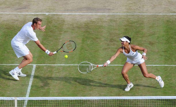 Henri Kontinen ja Heather Watson pelaavat huomenna Wimbledonin sekanelinpelifinaalissa.