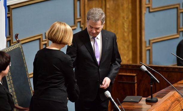 Presidentti Sauli Niinistö avasi tiistaina valtiopäivät, vastauspuheen piti puhemies Paula Risikko.