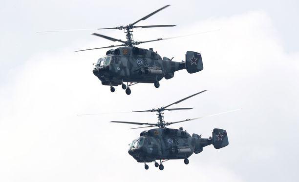 Itämereen syöksynyt helikopteri on Ka-29-sotilashelikopteri.