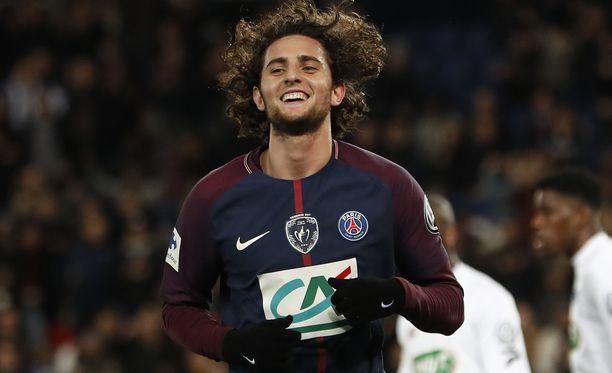 Adrien Rabiot vapautuu ensi kesänä nykyisestä PSG-sopimuksestaan.