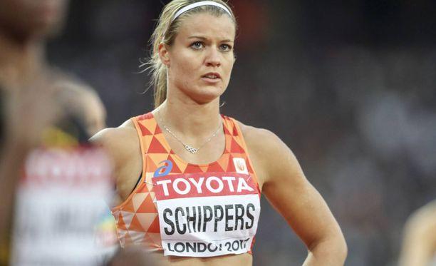Dafne Schippers kuuluu naisten 200 metrin finaalin suosikkeihin.