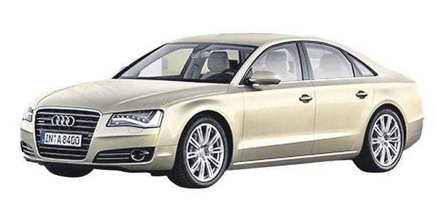 ISO Audi A8 on peräti 5,14 metriä pitkä lippulaiva.