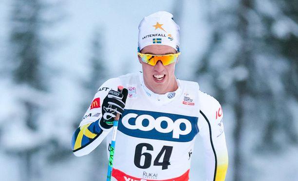 Calle Halfvarsson voitti sprintissä juniorien MM-kultaa kymmenen vuotta sitten.