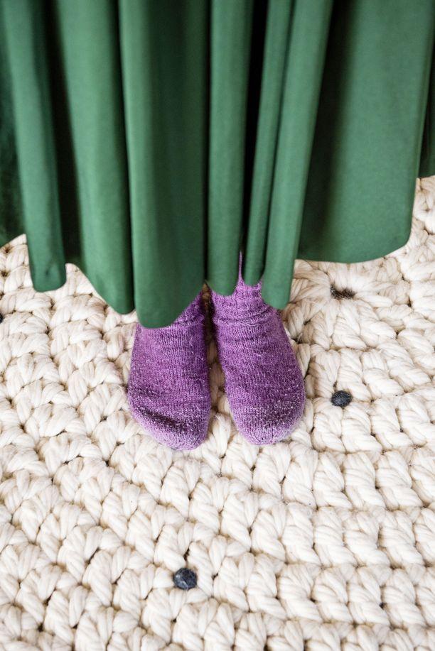 Nämä villasukat Molla sai siskoltaan ennen pitkää matkaa.