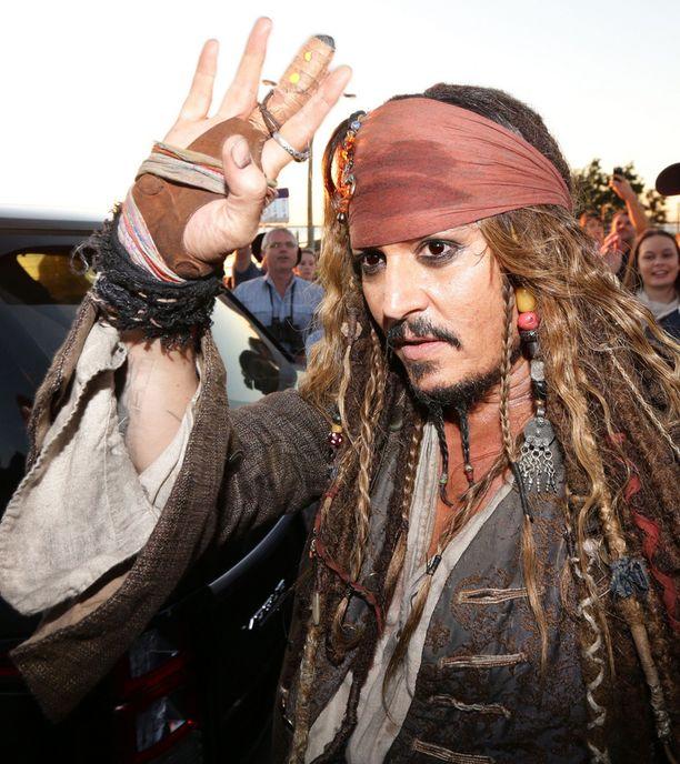 Johnny Depp on tehnyt tunnetuimman roolinsa kapteeni Sparrowina.