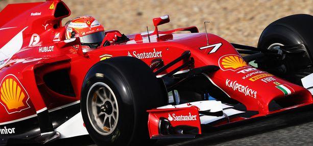 Kimi Räikkönen kiersi Jerezin radan aikaan 1,33,131.