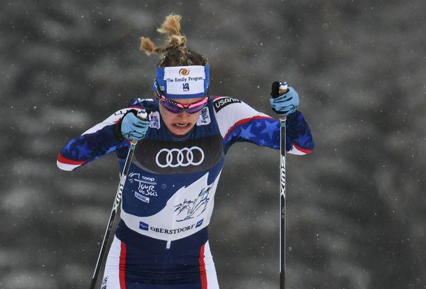 Jessica Digginsillä oli rankkaa Tourin etapille 6/7 Val di Fiemmessä.