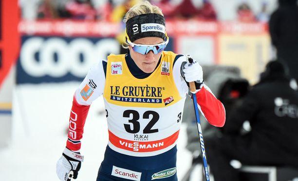 Kathrine Harsem sijoittui viidenneksi marraskuussa Rukalla hiihdetyssä maailmancup-sprintissä.